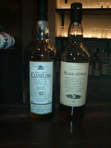 CLYNELISH 14年 と BLAIR ATHOL 12年