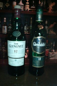 Glenfiddich(右)とThe Glenlivet(左)