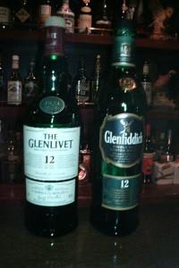 Glenfiddich(右)とThe Glenlivet(左)